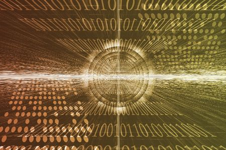 Futuristic Technology Data Flow Color Digital Abstract Stock Photo - 6160246