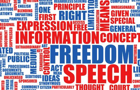free border: Freedom of Speech Concept in the Free World