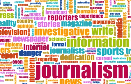 commentary: Informe de peri�dicos de carrera de periodismo como un concepto Foto de archivo