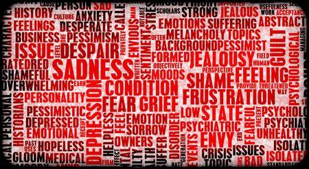 emotional pain: Edificio de emociones negativas up stress como arte