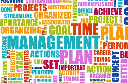 manage: Time Management Concept as a Abstract Background
