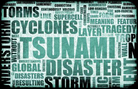 Tsunami Natural Disaster as a Art Background photo
