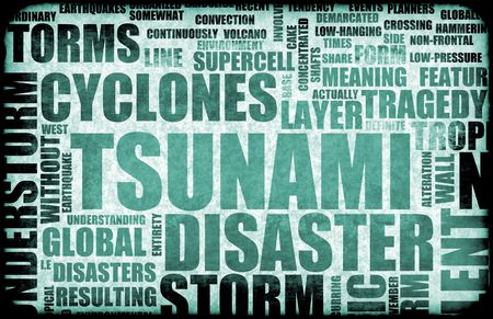 natural disaster: Tsunami Natural Disaster as a Art Background