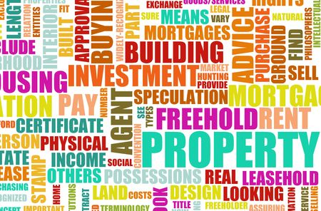 property agent: Property Real Estate Concept as a Abstract Stock Photo