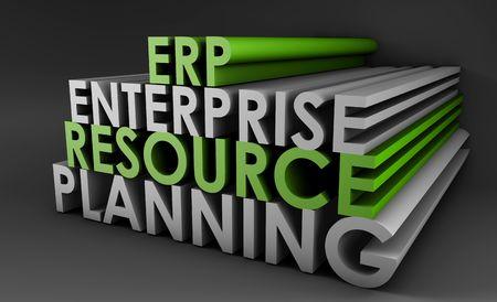 Enterprise Resource Planning ERP 3d Concept Art photo