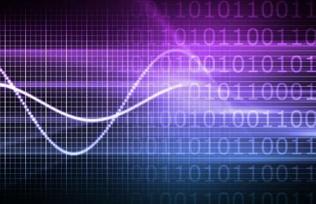 Purple Virtual Business Analysis with Graph Chart Stock Photo - 6179988