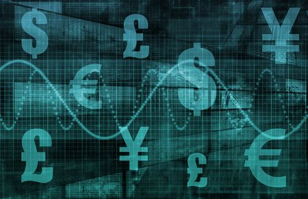 pound: World Currencies as a Financial Illustration Art