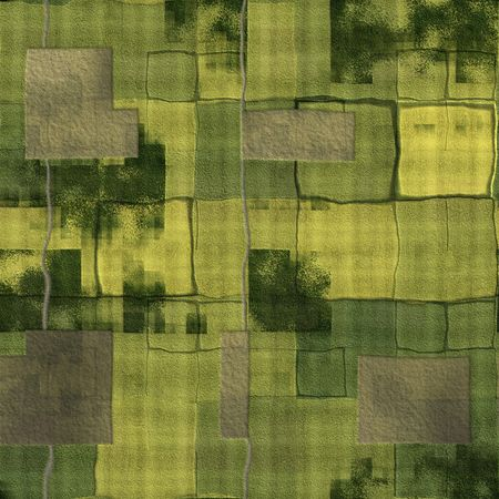 cartoon land: Farm Land Background With a Top Down View