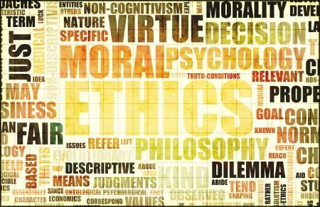 ethic: Etica Concept Idea come una figura di sfondo Archivio Fotografico