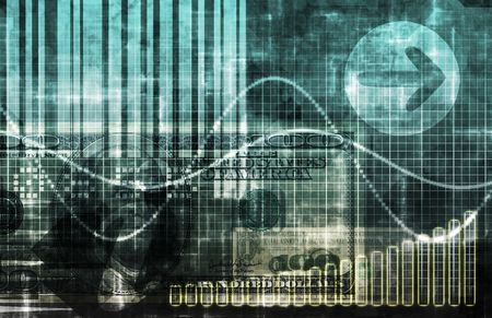 Blue Cyberspace Business System as Art Abstract Stock Photo - 6188113