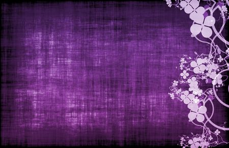 flowery: Fondo de textura antigua decoraci�n floral de grunge p�rpura