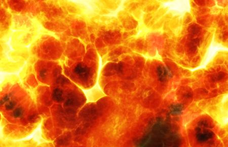 Fire Background Abstract with a Fiery Explosion photo