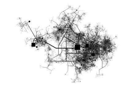 Ciudad de asignación de una ficción de las calles y carreteras de la ciudad