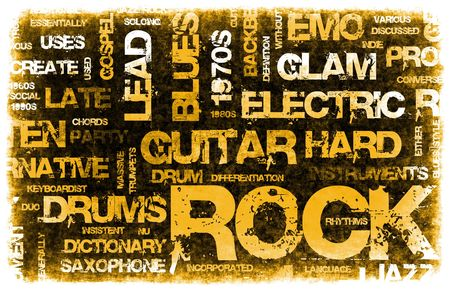 Rock Music Party Invitation as Poster Art photo