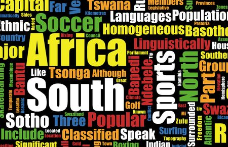 south africa flag: South Africa Football World Cup Host Event
