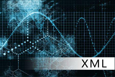 XML in a Blue Data Background Illustration Stock Illustration - 6247958