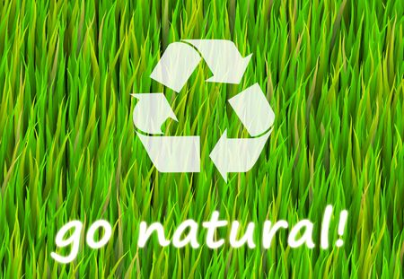go green background: Go Pure and Natural Now Abstract Background Stock Photo