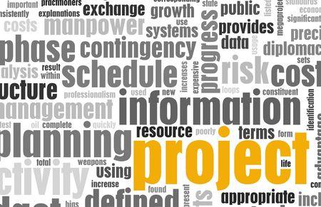 document management: Project Management en Planning als achtergrond Stockfoto