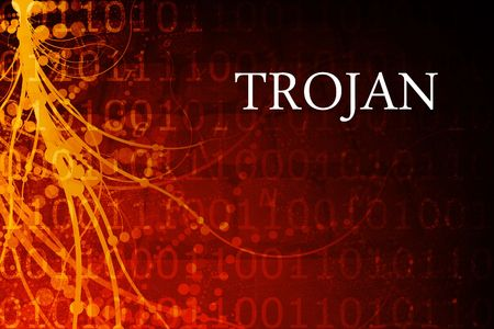 adware: Trojan Abstract Background in Red and Black Stock Photo