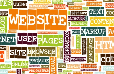 http: Website Internet Word Cloud as a Background