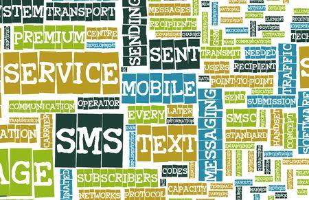 cel: SMS Mobile testo Short Message Service Concept  Archivio Fotografico