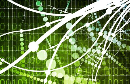 Green Media Overload with a Multimedia Abstract Stock Photo - 6279788