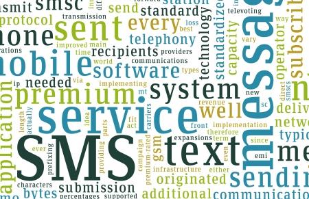 cel: SMS mobile testo Short Message Service Concept