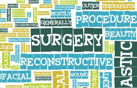 reconstruct: Reconstructive Surgery Concept as a Abstract Art Stock Photo