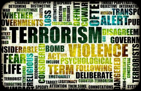 threat: Terrorism Alert or High Terrorist Threat Level Stock Photo