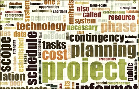 project planning: Project Planning and Phase as a Background Stock Photo