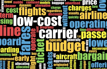 priced: Low Cost Carrier Budget Airline Concept Art Stock Photo
