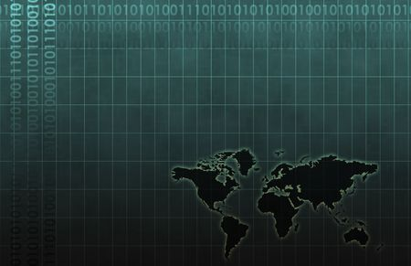 Global Business System Data as Background Wallpaper Stock Photo - 6364697