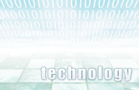 Technology on a Clear Blue Tech Background Stock Photo - 6364731