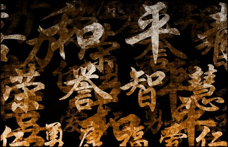 Chinese Writing Calligraphy as a Art Abstract photo