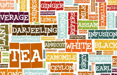 Assorted Teas Menu as a Food Drink Background Stock Photo - 6364706