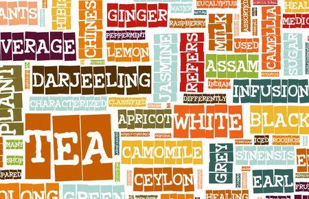 chai: Assorted Teas Menu as a Food Drink Background