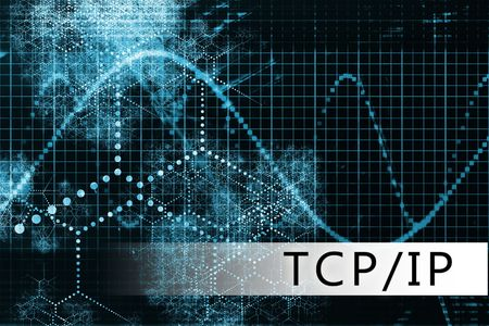 tcp: TCPIP in a Blue Data Background Illustration