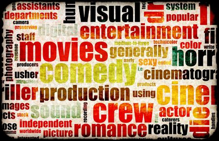 Movie Poster of Film Genres Vintage Background Stock Photo - 6364726