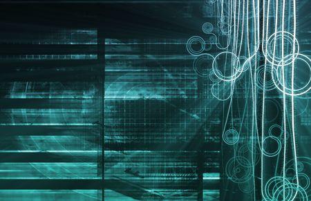 microscopisch: Blauwe nanotechnologie als een concept van medische wetenschap