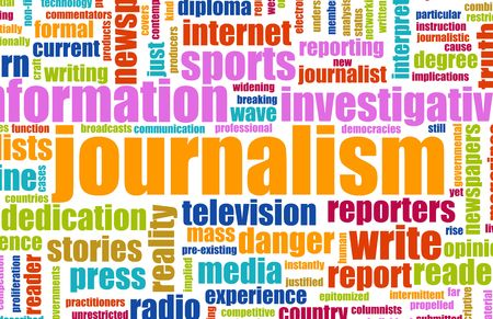 Journalism Career Newspaper Report as a Concept Stock Photo - 6415793