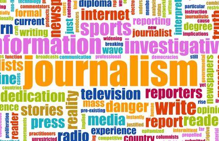 journalistic: Report di giornali giornalismo carriera come un concetto