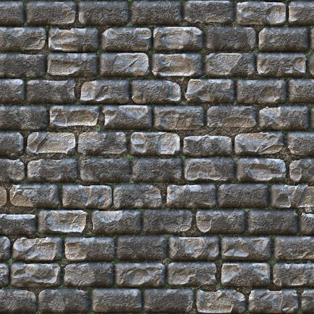 wall maps: Seamless Stone Brick Wall as Textured Background