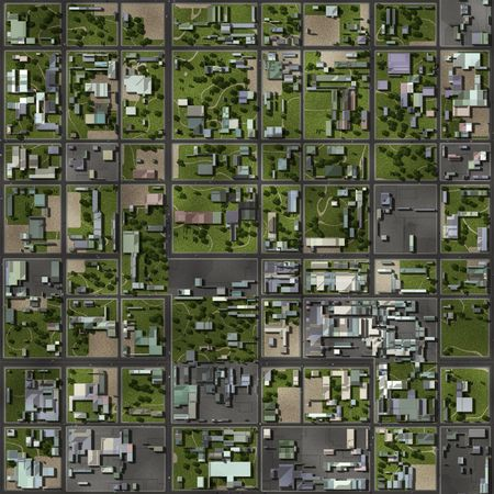 Seamless Suburbs Area as a Home Background Stock Photo - 6415817