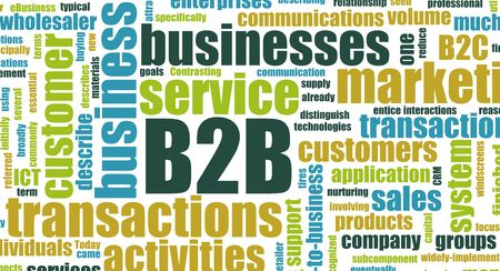 b2b: B2B Business to Business concepto como resumen de la