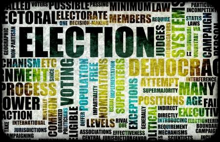 democracia: Campa�a de procesos de elecci�n como un fondo de concepto
