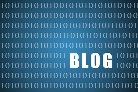 bloggers: Blogs Abstract on Blue Background Digital Tech