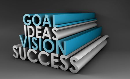 Vision Success From Goal and Idea in 3d photo