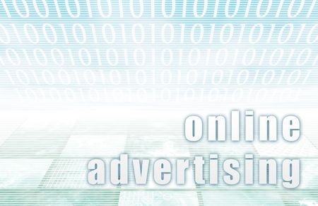 Online Advertising on a Clear Blue Tech Art Stock Photo - 6441067
