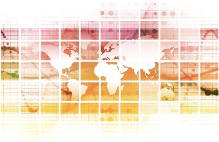 Global Conference World as a Abstract Background photo