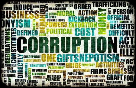 nepotism: Corruption in the Government in a Corrupt System Stock Photo